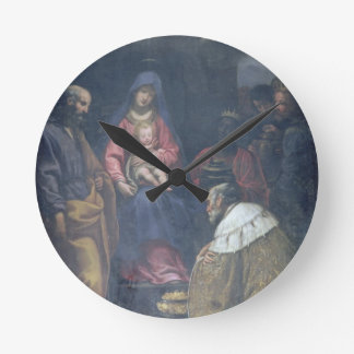 Adoration of the Magi, 1629 (oil on canvas) Round Clock