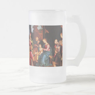 ADORATION OF THE MAGI 16 OZ FROSTED GLASS BEER MUG