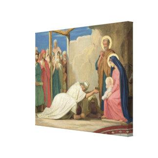 Adoration of the Magi, 1857 Canvas Print