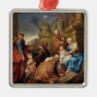Adoration of the Magi 3 Metal Ornament