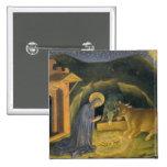 Adoration of the Magi Altarpiece; left hand predel 2 Inch Square Button