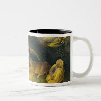 Adoration of the Magi Altarpiece; left hand predel Two-Tone Coffee Mug