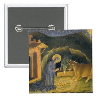 Adoration of the Magi Altarpiece; left hand predel Pinback Button