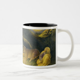 Adoration of the Magi Altarpiece; left hand predel Two-Tone Coffee Mug