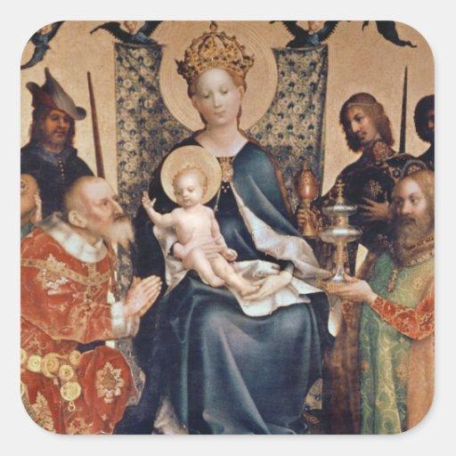 Adoration of the Magi altarpiece Square Sticker