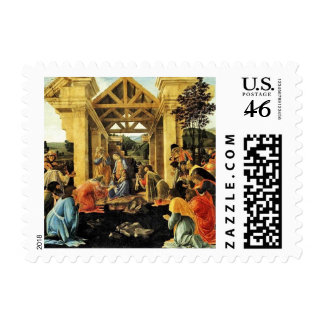 Adoration of the Magi - Botticelli Postage Stamps
