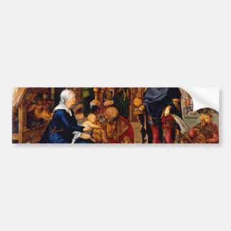 Adoration of the Magi by Albrecht Durer Bumper Stickers