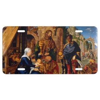 Adoration of the Magi by Albrecht Durer License Plate