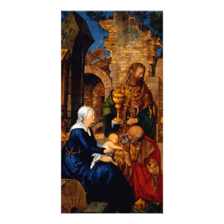 Adoration of the Magi by Albrecht Durer Customized Photo Card
