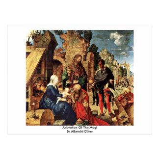 Adoration Of The Magi By Albrecht Dürer Postcard