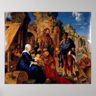 Adoration of the Magi by Albrecht Durer Poster
