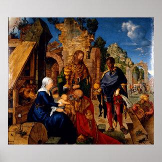 Adoration of the Magi by Albrecht Durer Print