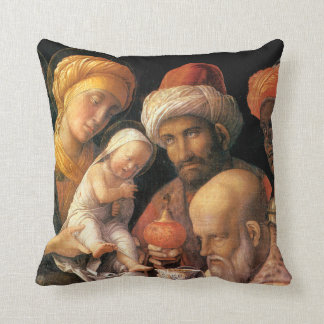 Adoration of the Magi by Andrea Mantegna Throw Pillow