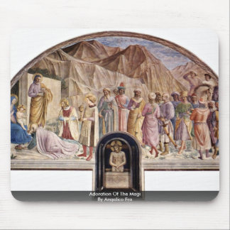 Adoration Of The Magi By Angelico Fra Mouse Pad