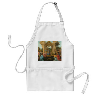 Adoration of the Magi by Botticelli Adult Apron