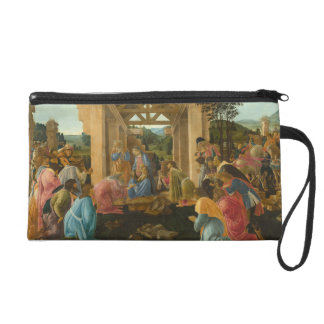 Adoration of the Magi by Botticelli Wristlet Clutch
