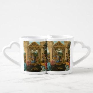 Adoration of the Magi by Botticelli Coffee Mug Set