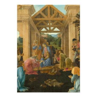 Adoration of the Magi by Botticelli Personalized Invitation