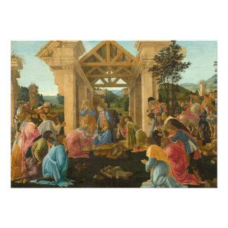 Adoration of the Magi by Botticelli Custom Invitations