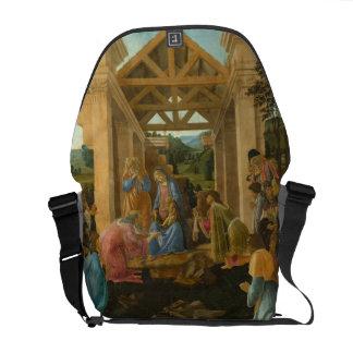 Adoration of the Magi by Botticelli Messenger Bag