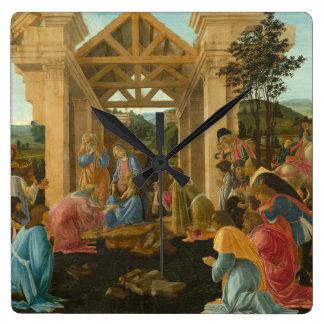 Adoration of the Magi by Botticelli Wallclocks