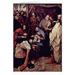 Adoration Of The Magi By Bruegel A. Pieter Greeting Card