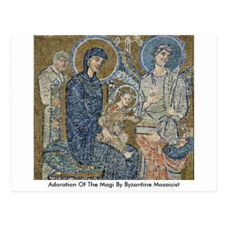 Adoration Of The Magi By Byzantine Mosaicist Postcard