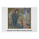 Adoration Of The Magi By Byzantine Mosaicist Posters