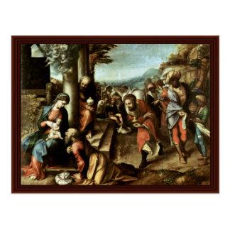 Adoration Of The Magi By Correggio Postcards