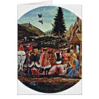 Adoration Of The Magi By Domenico Veneziano Greeting Cards