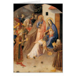 Adoration of the Magi by Fra Angelico 1423 Greeting Card