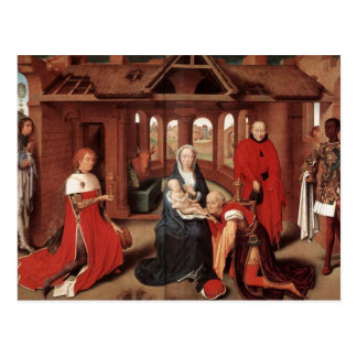 Adoration of the Magi by Hans Memling Postcard
