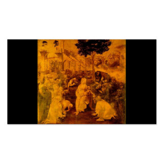 Adoration of the Magi by Leonardo Da Vinci Double-Sided Standard Business Cards (Pack Of 100)