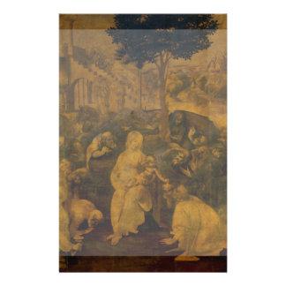 Adoration of the Magi by Leonardo da Vinci Flyer Design