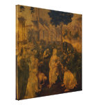 Adoration of the Magi by Leonardo da Vinci (Large) Gallery Wrapped Canvas