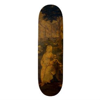 Adoration of the Magi by Leonardo da Vinci Skateboard Deck