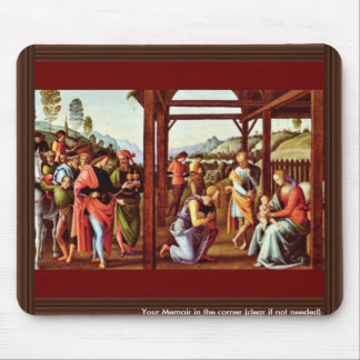 Adoration Of The Magi By Perugino Pietro Mouse Pad