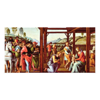 Adoration Of The Magi By Perugino Pietro Photo Card Template