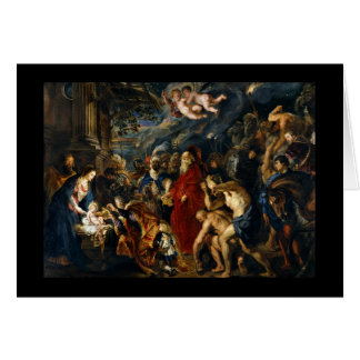 Adoration of the Magi by Rubens Card