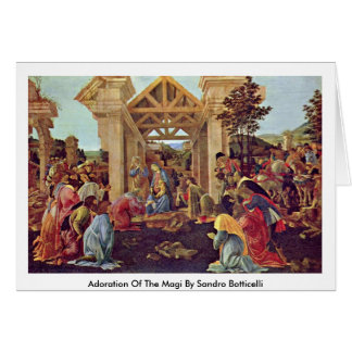 Adoration Of The Magi By Sandro Botticelli Greeting Cards