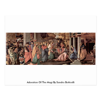 Adoration Of The Magi By Sandro Botticelli Postcard