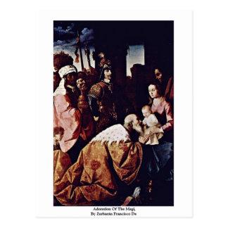 Adoration Of The Magi,  By Zurbarán Francisco De Postcard
