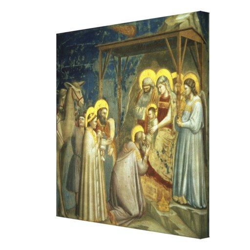 Adoration of the Magi, c.1305 Canvas Print