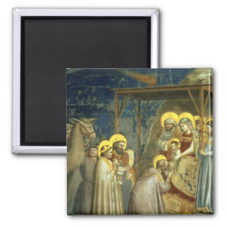 Adoration of the Magi, c.1305 2 Inch Square Magnet