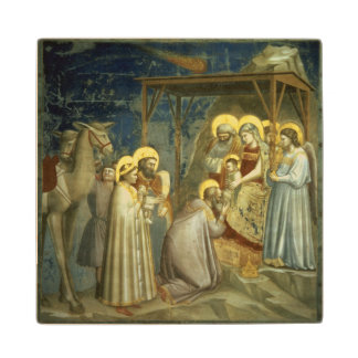 Adoration of the Magi, c.1305 Maple Wood Coaster