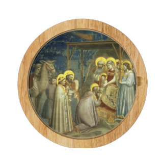 Adoration of the Magi, c.1305 Round Cheeseboard
