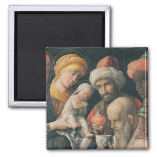 Adoration of the Magi, c.1495-1505 2 Inch Square Magnet