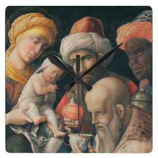 Adoration of the Magi, c.1495-1505 Square Wall Clock