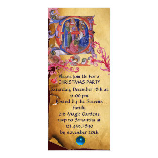 ADORATION OF THE MAGI CHRISTMAS NATIVITY PARCHMENT CARD