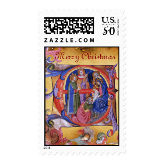 ADORATION OF THE MAGI CHRISTMAS NATIVITY PARCHMENT POSTAGE
